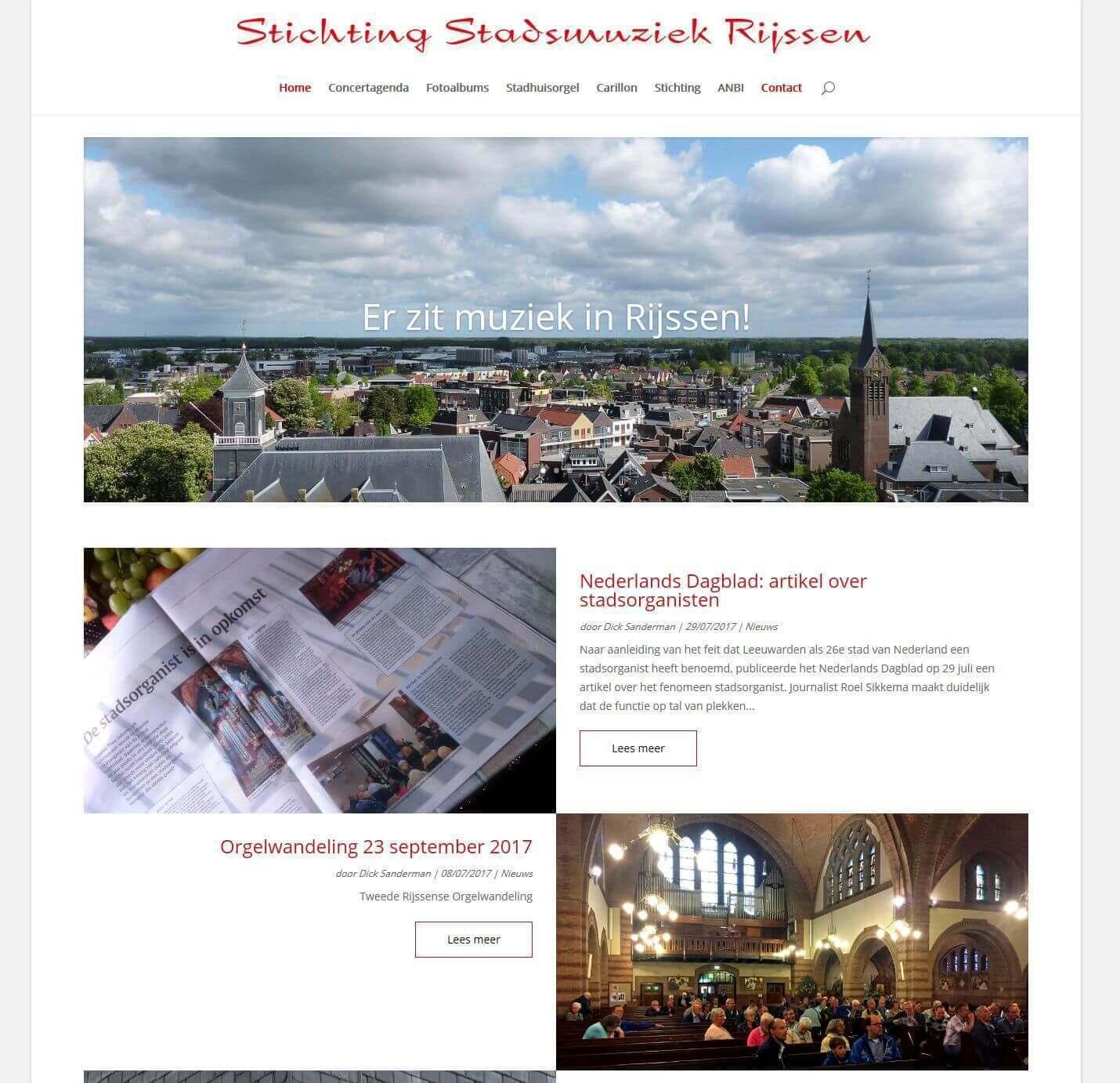 Afbeelding Website Stadsmuziek Rijssen