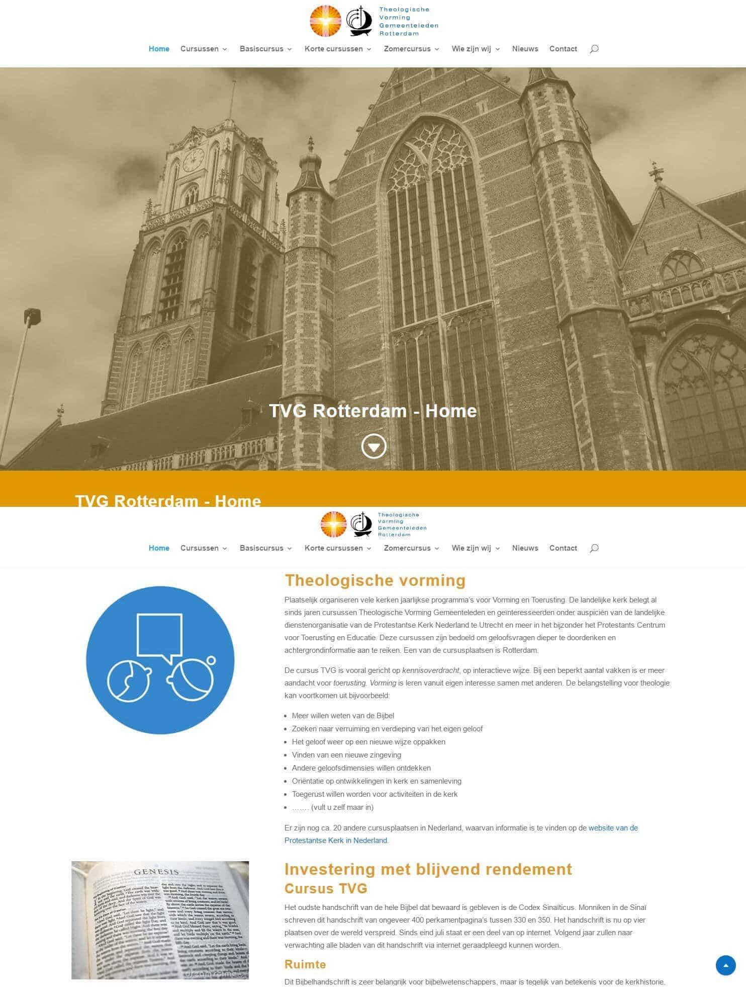 Website TVG Rotterdam