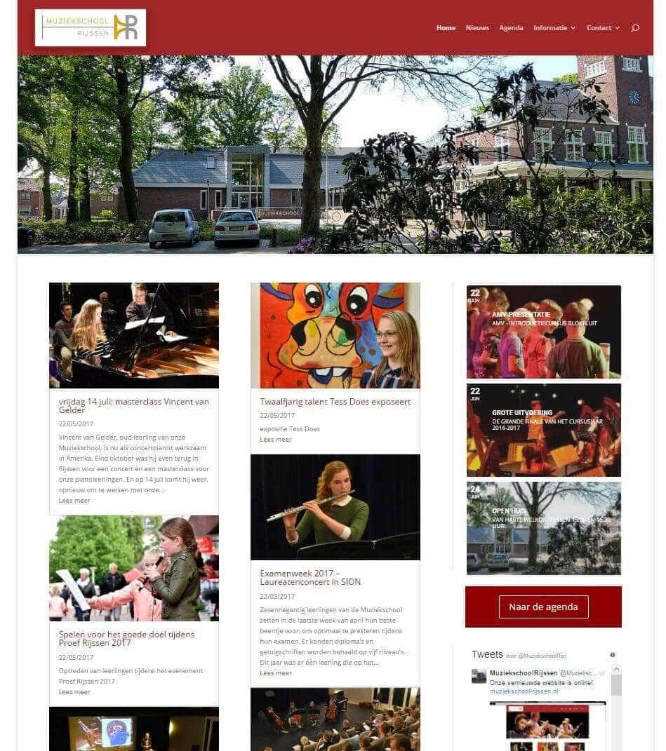 Afbeelding Website Muziekschool Rijssen