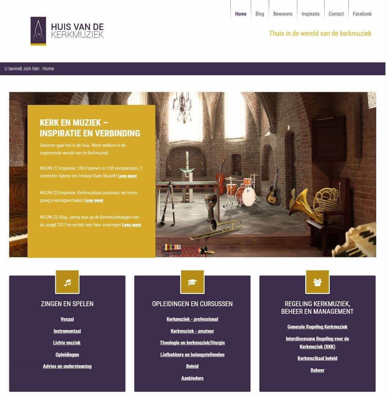 Afbeelding Website Huis van de Kerkmuziek
