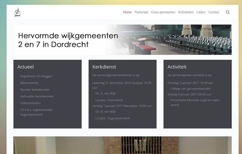 Afbeelding Website Wijk 2 en 7 Dordrecht