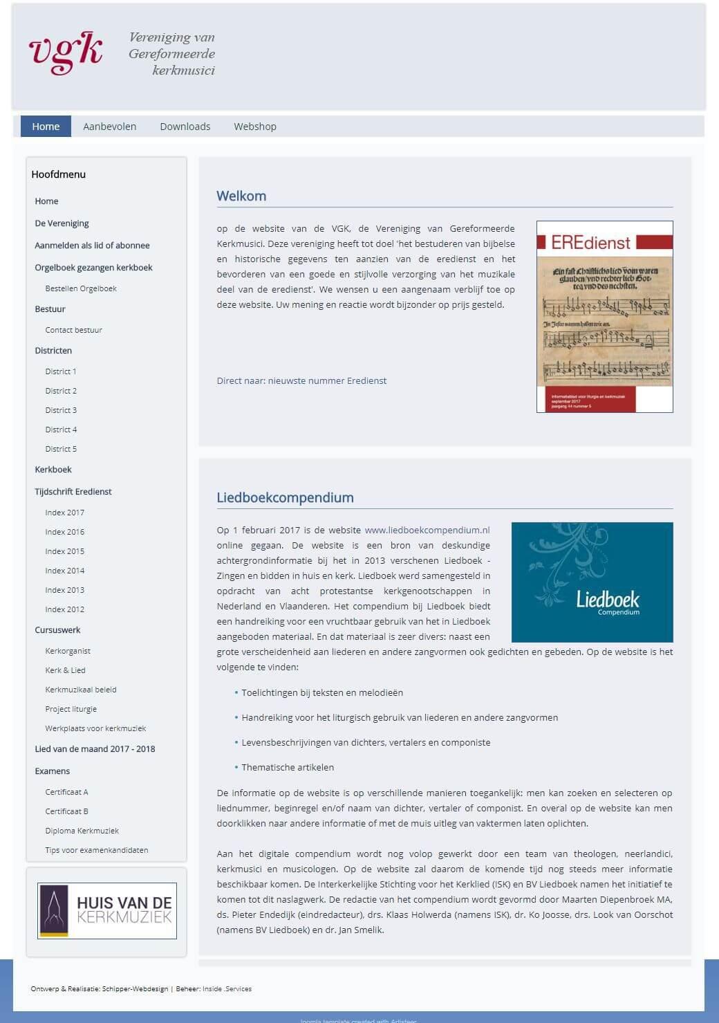 Afbeelding website www.eredienst.com