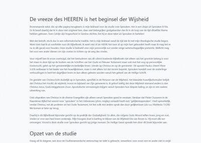 Volledige afbeelding website Ds. H.J. Stoutjesdijk