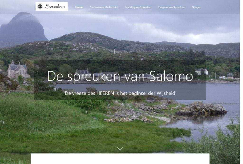 Afbeelding website Ds. H.J. Stoutjesdijk