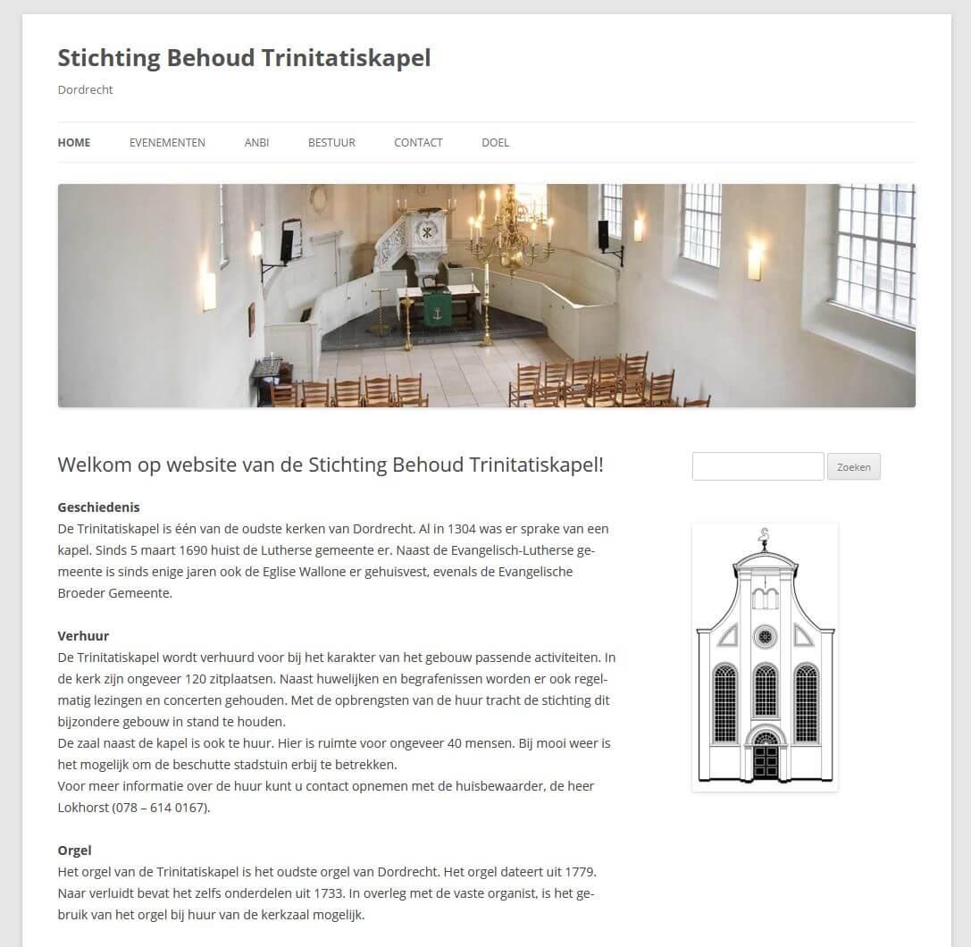 Afbeelding oude website Trinitatiskapel