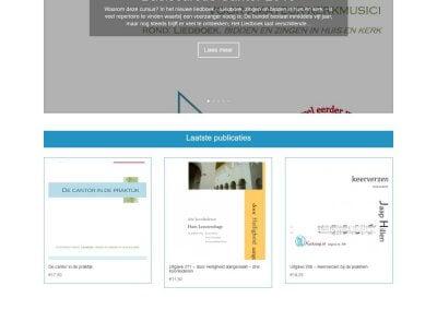 Afbeelding Volledige home-pagina Kerkzang website