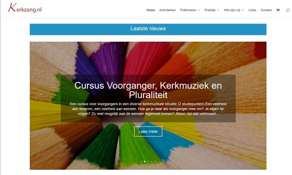 Afbeelding Website kerkzang.nl