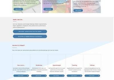 Afbeelding volledige home-pagina website De Mee-denkers