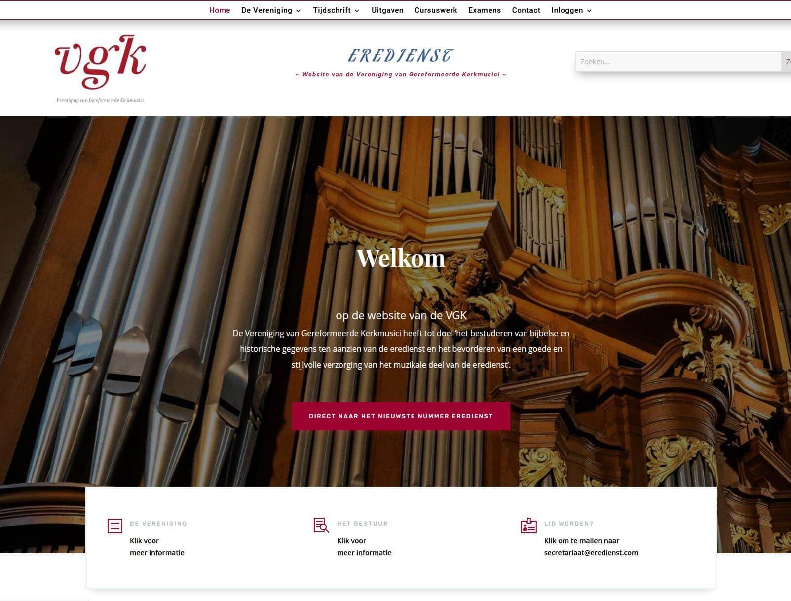 Afbeelding VGK website