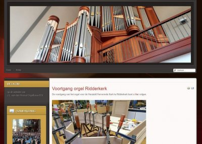 Opdracht nieuwe website Van den Heuvel Orgelbouw